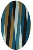 rug #935354 | oval stripes rug