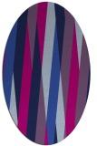rug #935361 | oval blue abstract rug