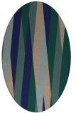 rug #935365 | oval blue graphic rug