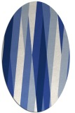 rug #935373   oval blue graphic rug