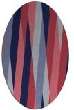 rug #935421 | oval blue-violet graphic rug