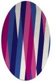 rug #935429 | oval blue-violet graphic rug