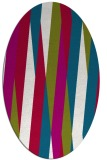 rug #935445 | oval red stripes rug