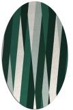 rug #935461 | oval green abstract rug