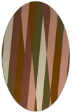 rug #935469 | oval brown graphic rug