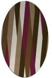 rug #935477 | oval mid-brown rug