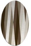 rug #935481 | oval white stripes rug