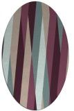 rug #935485 | oval pink graphic rug