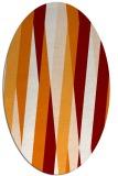 rug #935529 | oval orange rug
