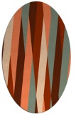 rug #935537 | oval orange graphic rug