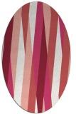 rug #935553 | oval white abstract rug