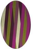 rug #935561 | oval green abstract rug