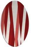 rug #935581 | oval red abstract rug
