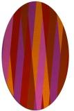 rug #935585 | oval red stripes rug