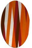 rug #935601 | oval red-orange stripes rug