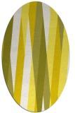 rug #935609 | oval white abstract rug
