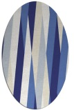 rug #935613 | oval white abstract rug