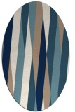 rug #935621 | oval white stripes rug
