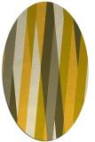 rug #935629 | oval yellow stripes rug