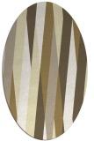 rug #935633 | oval white stripes rug