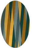 rug #935645 | oval yellow graphic rug
