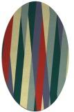 rug #935649 | oval yellow stripes rug