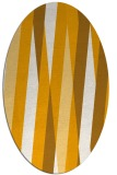 rug #935669 | oval light-orange abstract rug