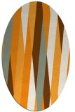 rug #935677 | oval light-orange abstract rug