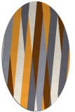 rug #935681 | oval light-orange abstract rug