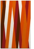 rug #935961 |  red-orange stripes rug