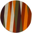 rug #936045 | round orange graphic rug