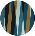 rug #936073 | round mid-brown stripes rug