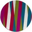 rug #936165 | round red stripes rug