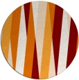 rug #936249 | round orange abstract rug