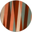 rug #936257 | round orange graphic rug