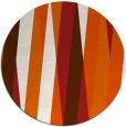 rug #936321   round red-orange stripes rug