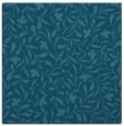 rug #938637 | square blue-green damask rug