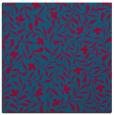 rug #938689 | square blue-green damask rug