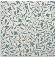 rug #938861 | square white damask rug