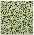 rug #938889 | square blue-green damask rug