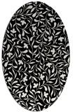 rug #938929 | oval black natural rug