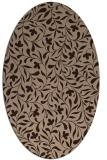 rug #938940 | oval damask rug