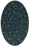 rug #938969 | oval green damask rug