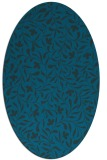 rug #938993 | oval blue-green rug