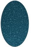 rug #938997 | oval blue-green natural rug