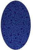 rug #939029 | oval blue-violet damask rug