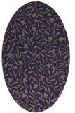 rug #939033 | oval beige damask rug