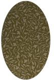 rug #939041   oval mid-brown natural rug