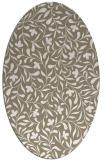 rug #939081 | oval white natural rug