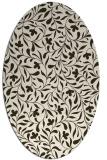 rug #939107 | oval traditional rug